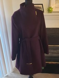 Michael Kors Burgundy Wool Coat